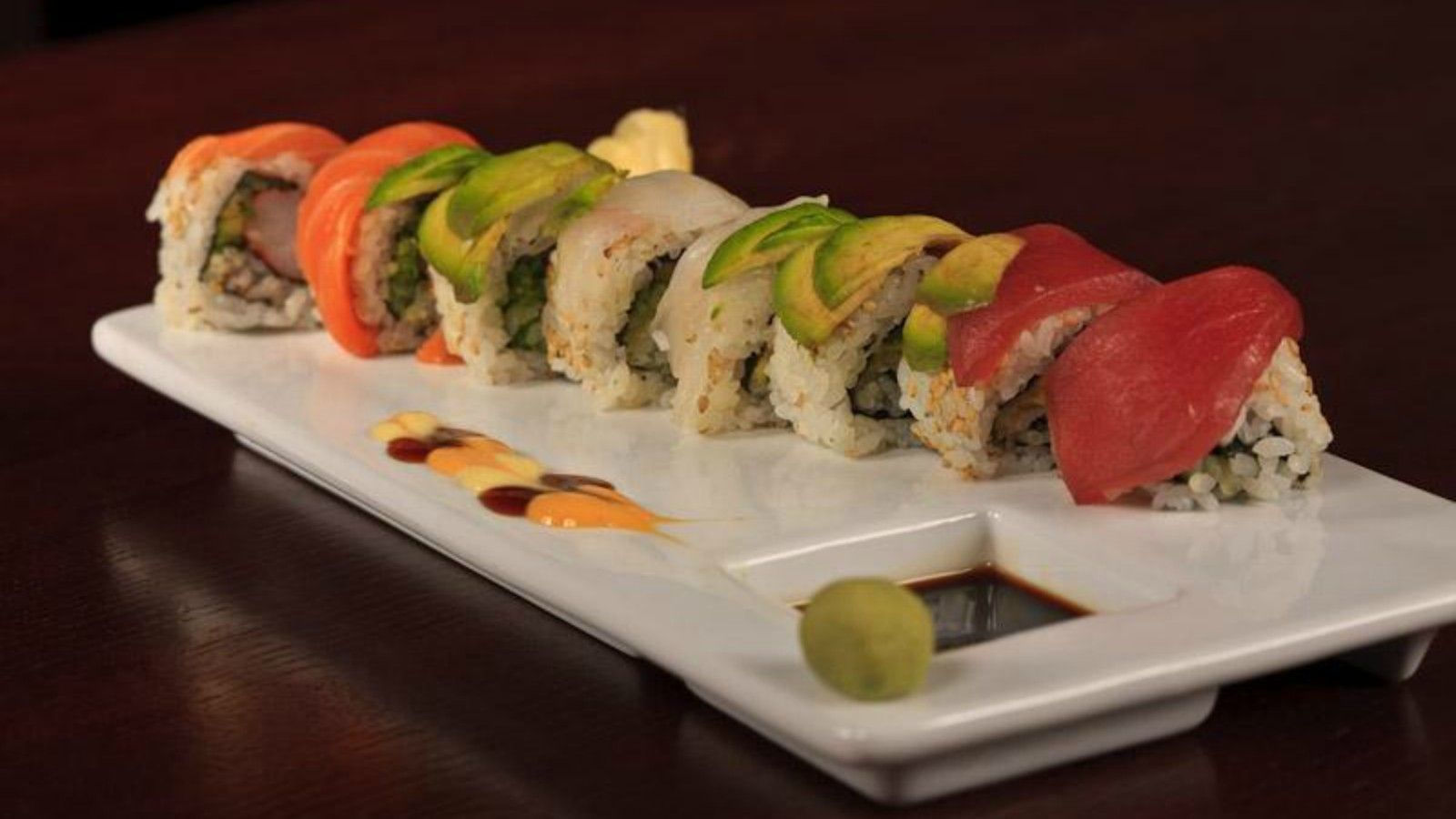 Morristown Restaurants - Sushi Rainbow Roll